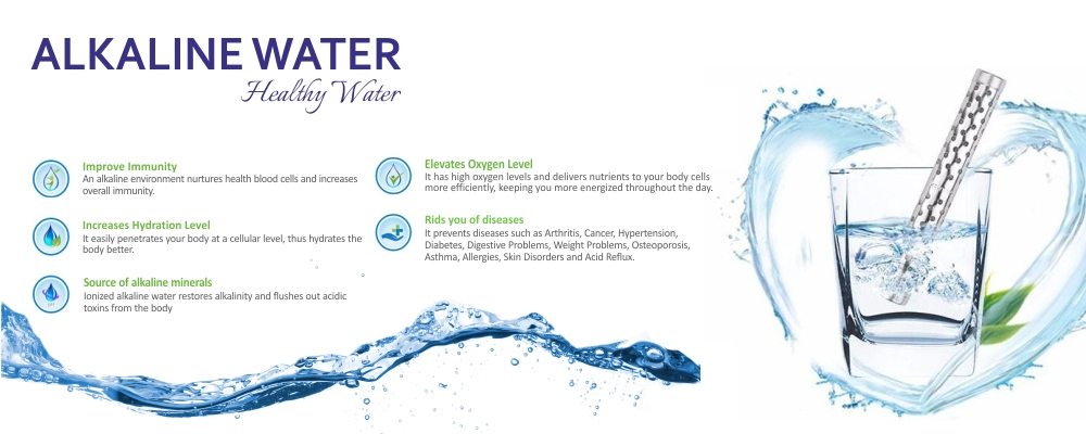 Alkaline water producer products manufacturer