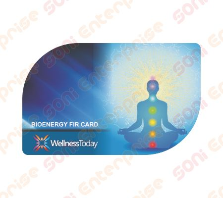 wellness today 2mm thick blue color bio energy card