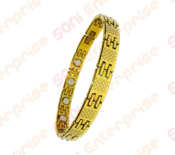 Golden Toned Tungsten Magnetic Bracelet