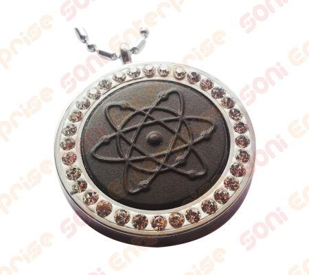 mineral energy pendant for men